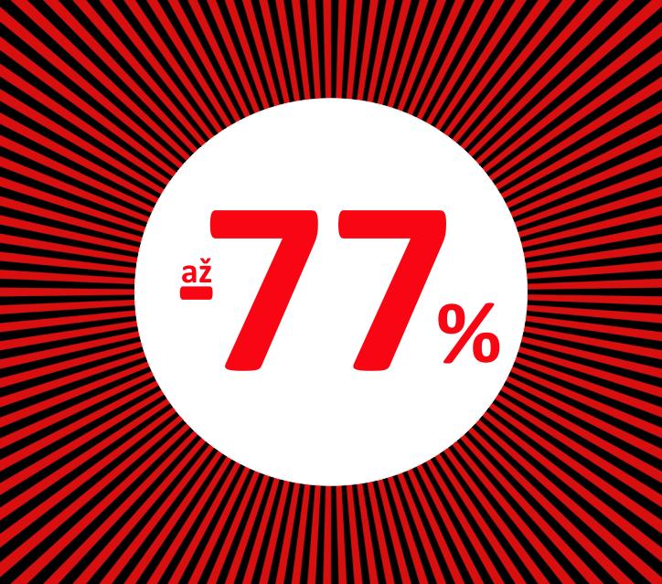 až -70% květen